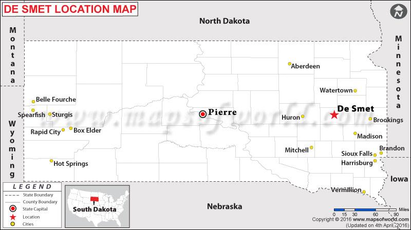 Location Map of De Smet, South Dakota