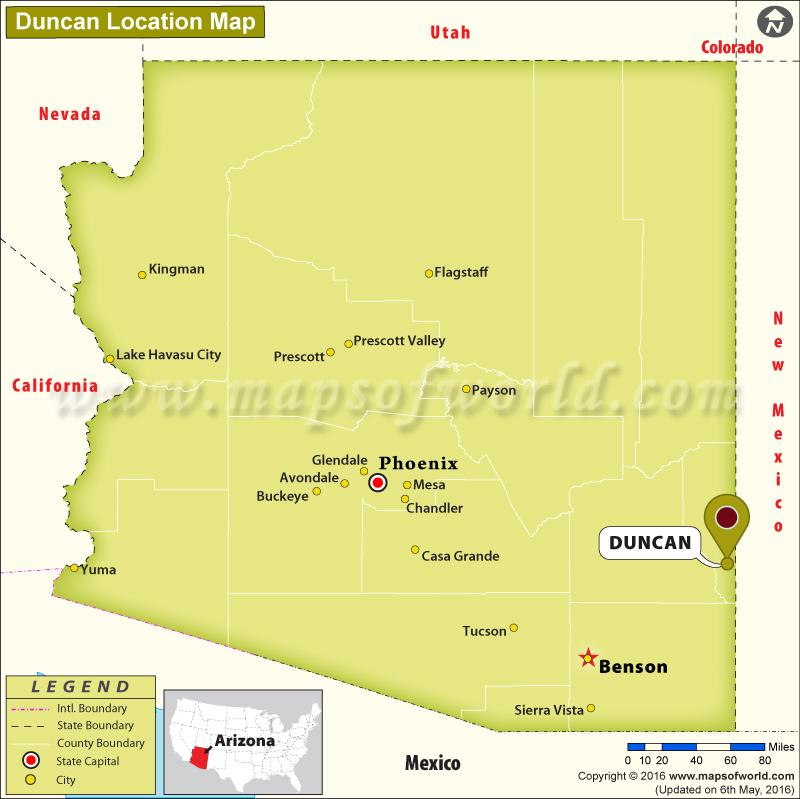 Where is Duncan, Arizona