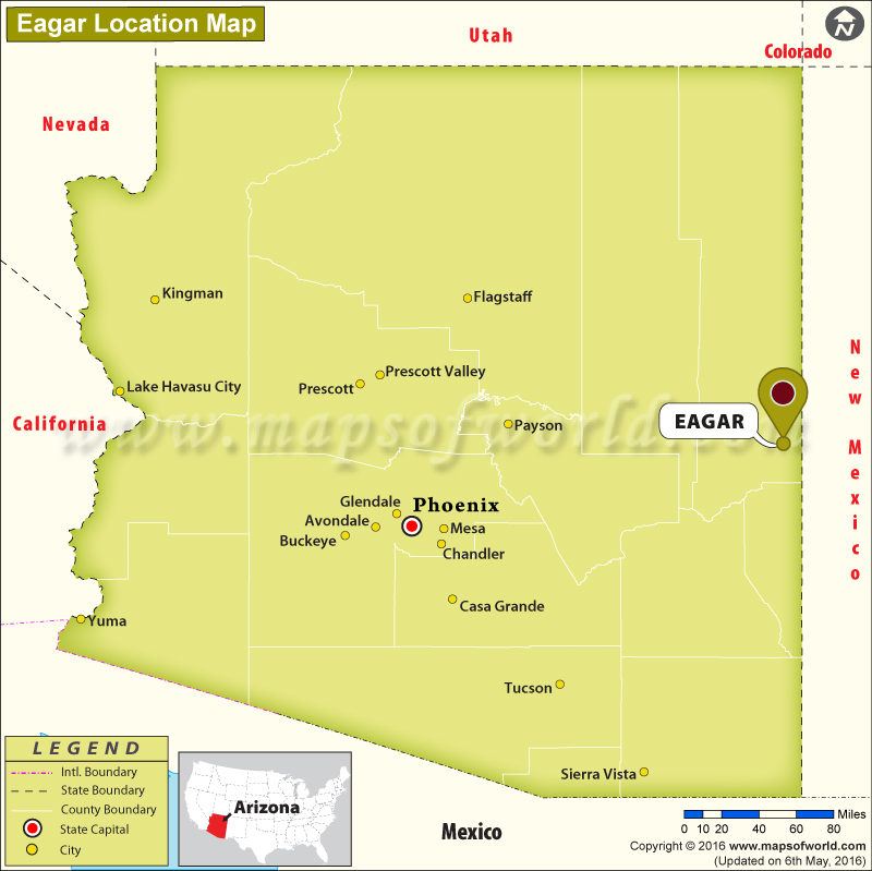 Where is Eagar, Arizona