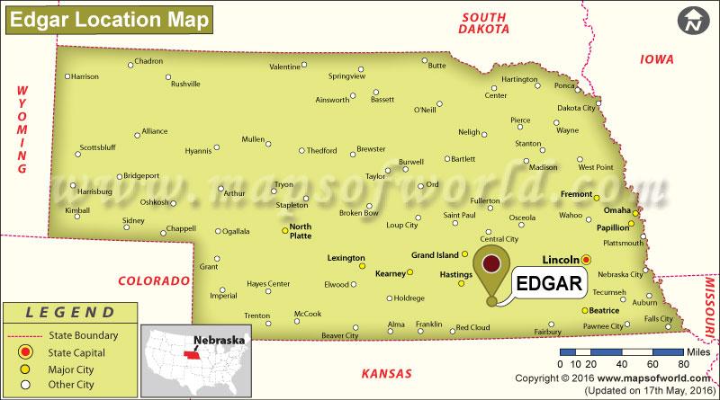 Where is Edgar, Nebraska
