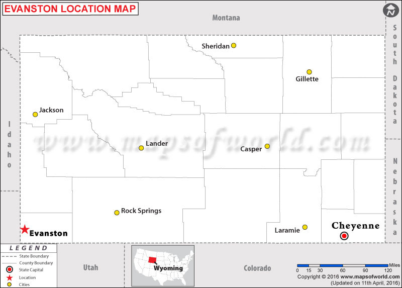 Where is Evanston , Wyoming