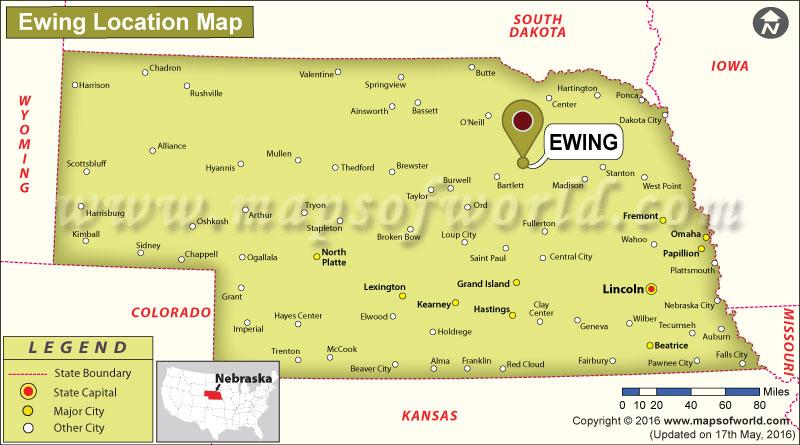 Where is Ewing, Nebraska