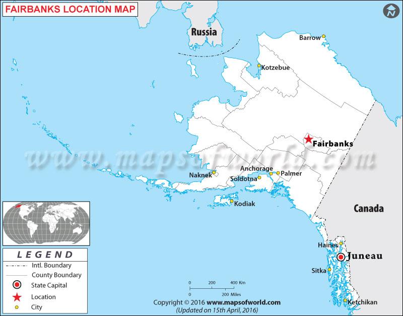 Where is Fairbanks Located in Alaska, USA