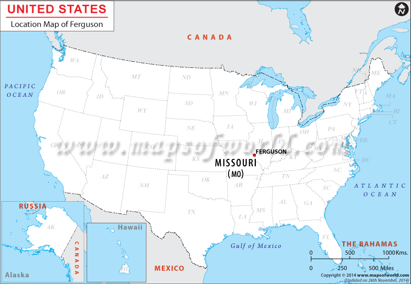 Ferguson Missouri On Us Map Where is Ferguson Located in Missouri, USA