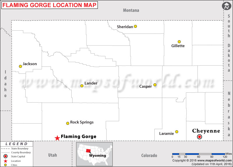 Where is Flamin Gorge, Wyoming