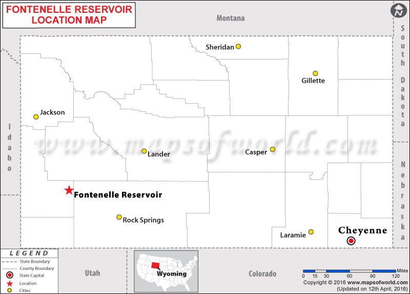 Where is Fontenelle Reservoir, Wyoming