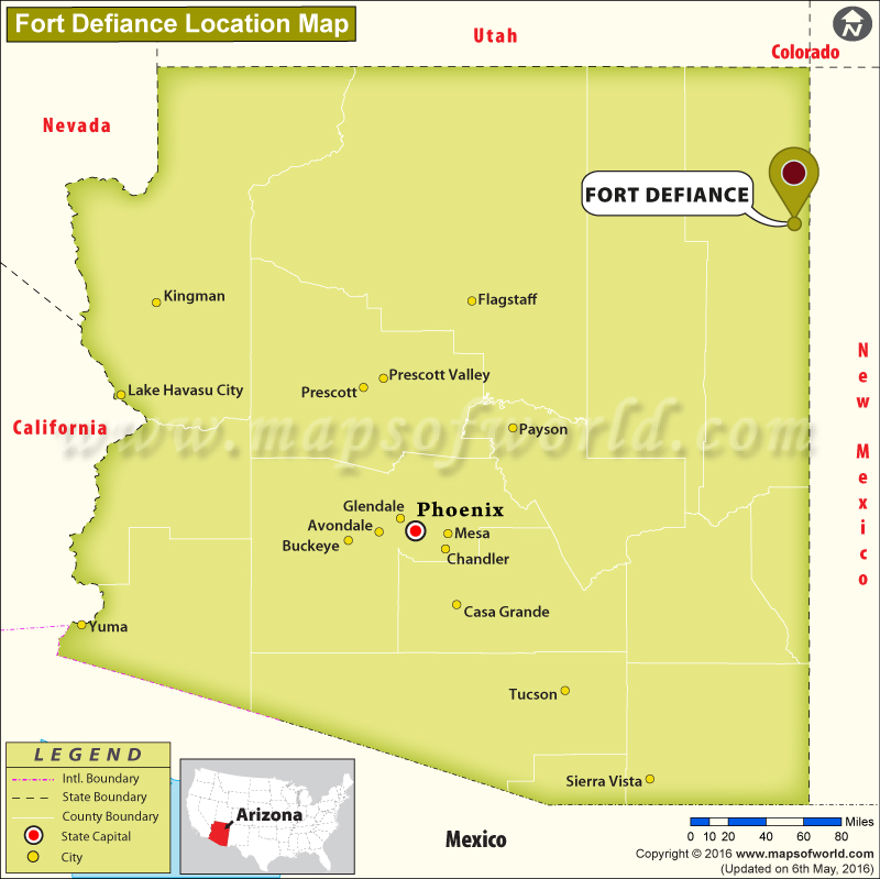 Where Is Fort Defiance Located In Arizona Usa