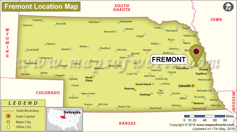 Where is Fremont, Nebraska