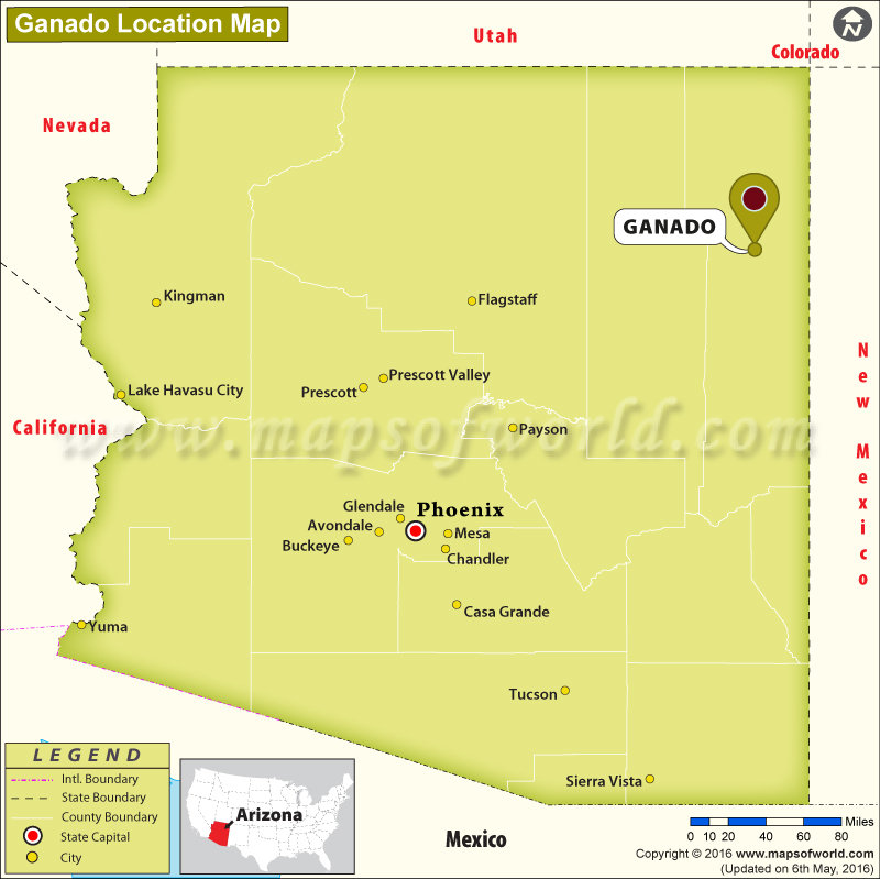 Where is Ganado, Arizona