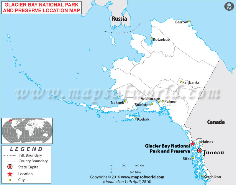 Where is Glacier Bay National Park & Preserve , Alaska