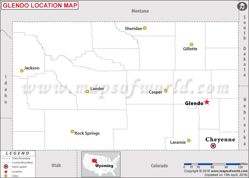 Where is Glendo , Wyoming