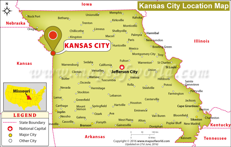 Where is Kansas City Located in Missouri, USA