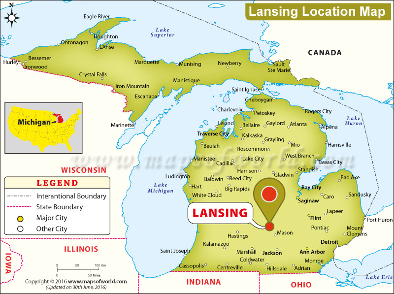 Where is Lansing Located in Michigan USA