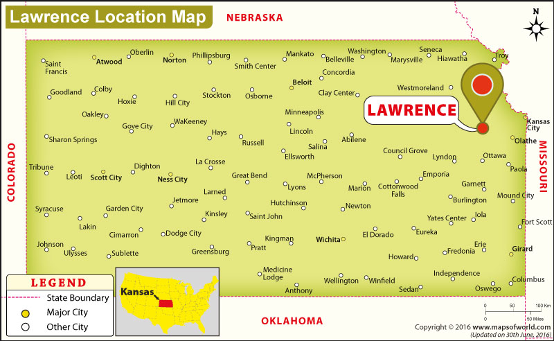 Where is Lawrence, Kansas