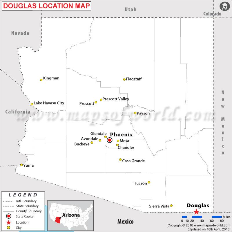 Where is Douglas , Arizona