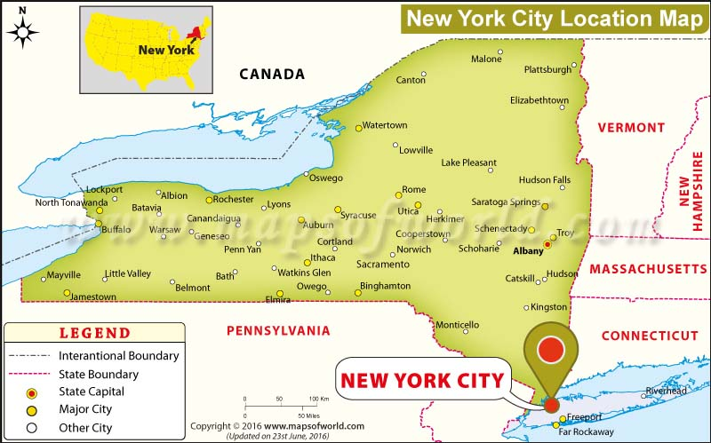 where is new york city new york