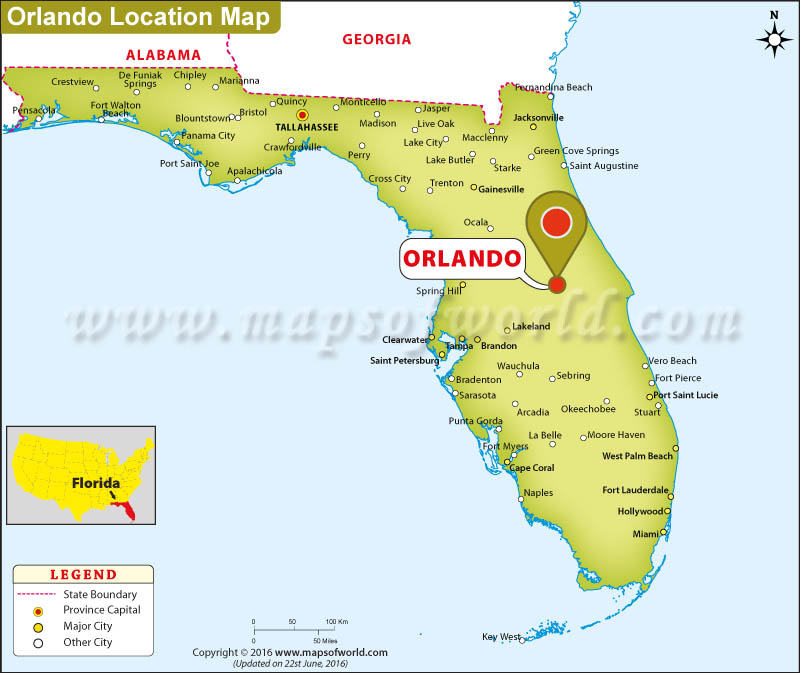 Map Orlando Florida Where is Orlando City Located in Florida, USA