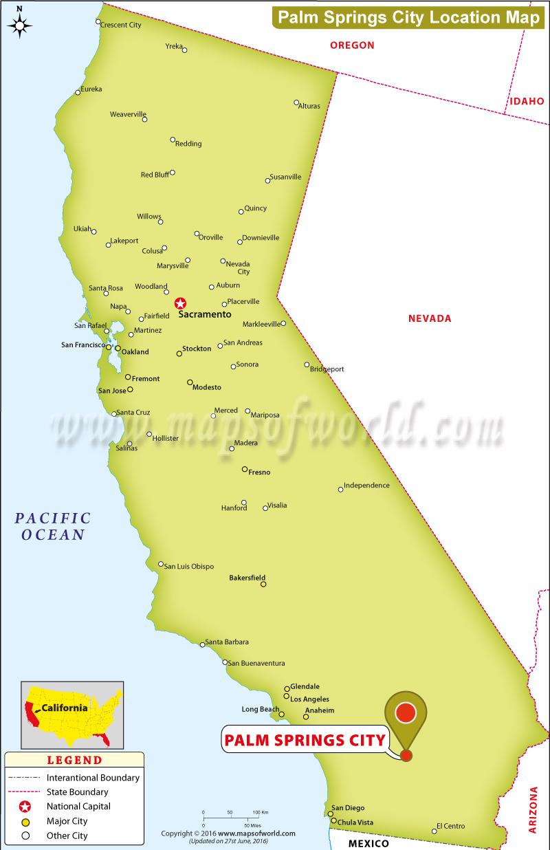 palm desert california map Where Is Palm Springs Located In California Usa palm desert california map