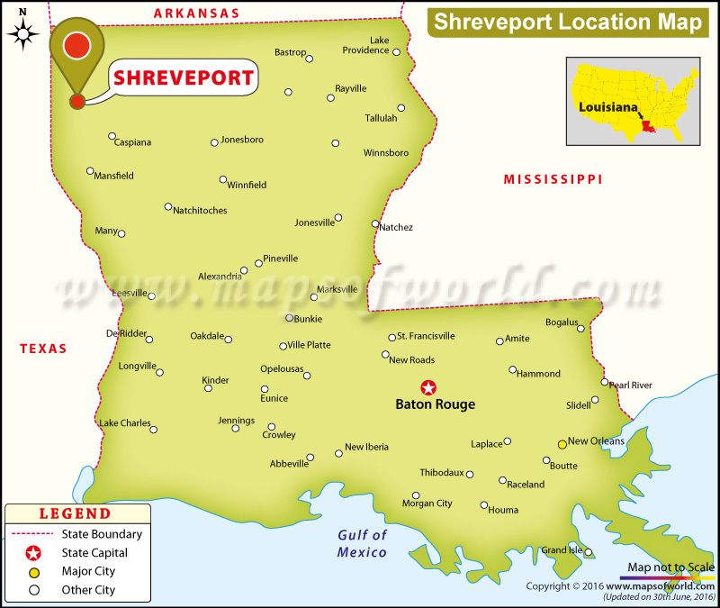 Where is Shreveport, Louisiana