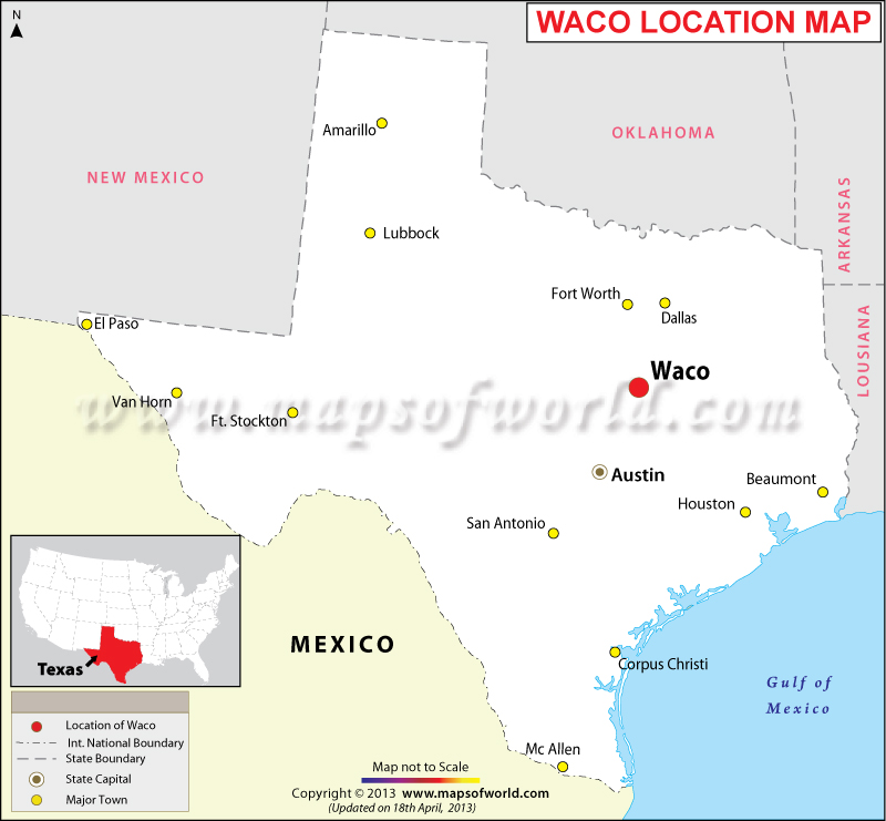 Where Is Waco Located In Texas USA - Us Map Texas
