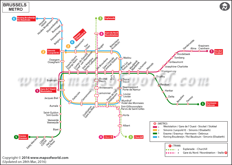 Subway Map Brussels