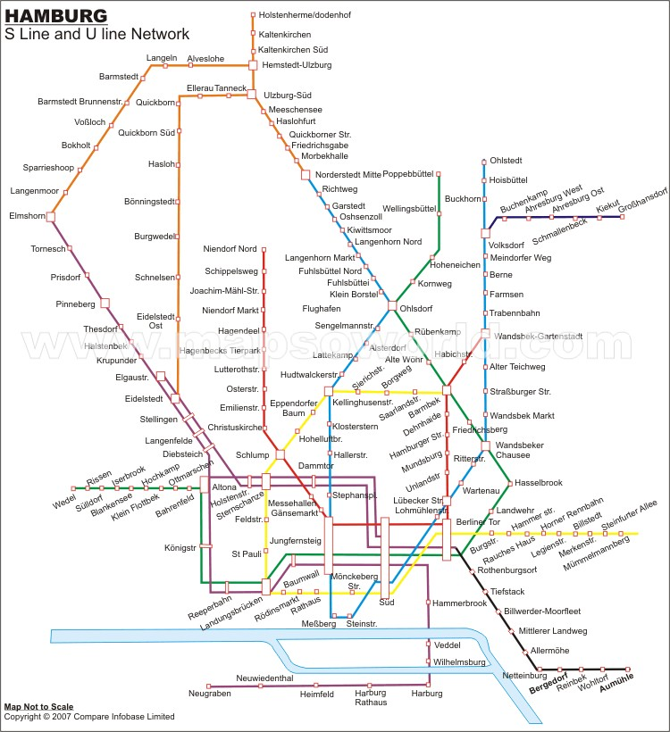 Hamburg Metro Map