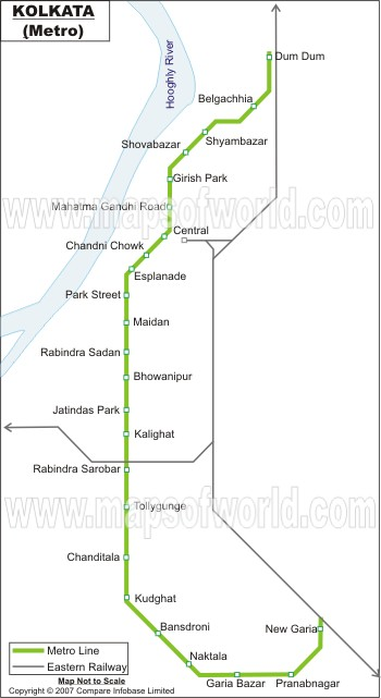 Kolkata Metro Map