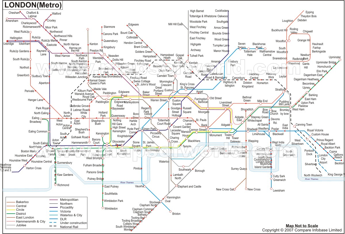 London Tube Map London Underground Map