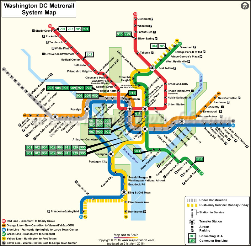 Washington Dc Metro Map Washington Dc Subway Map