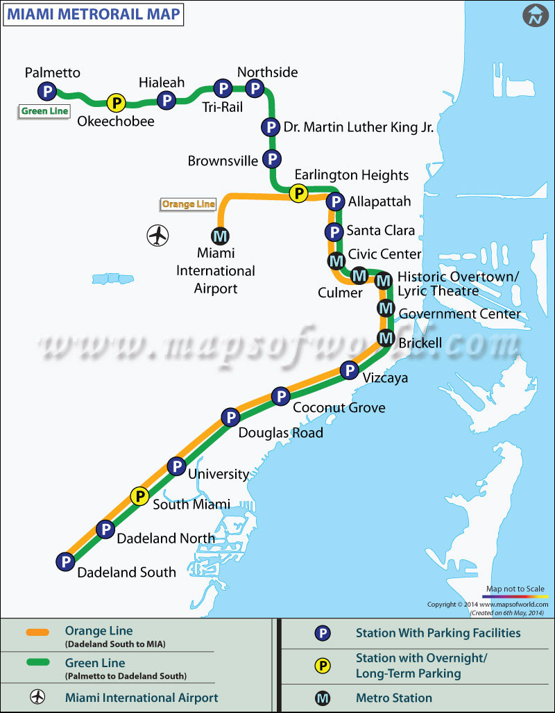 miami metro map | metrorail