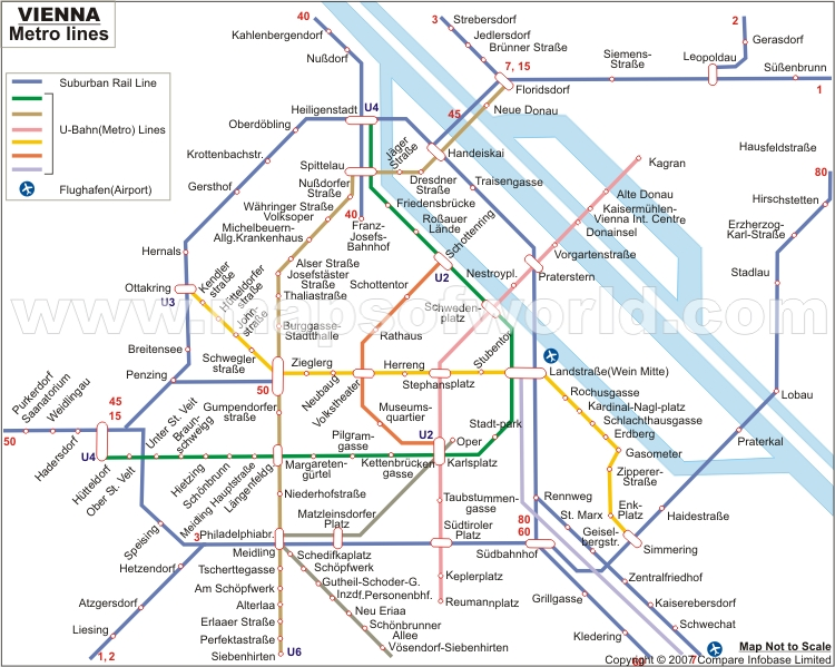Vienna Metro Map Subway