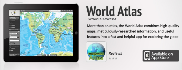 World atlas banner