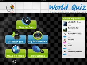 World Quiz app for iPad