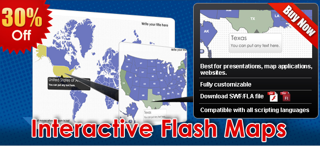 Interactive Flash Maps