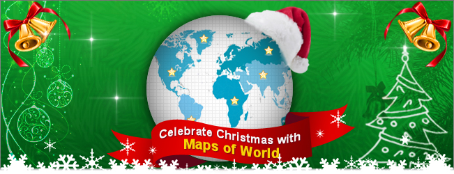 Celebrate Christmas with Maps of World