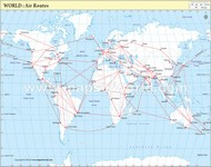 Air Routes of the World