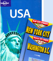 Save US $ 20 on the purchase of Lonely Planet's USA Travel Guide and Berndtson & Berndtson maps of Washington D.C. and New York City.