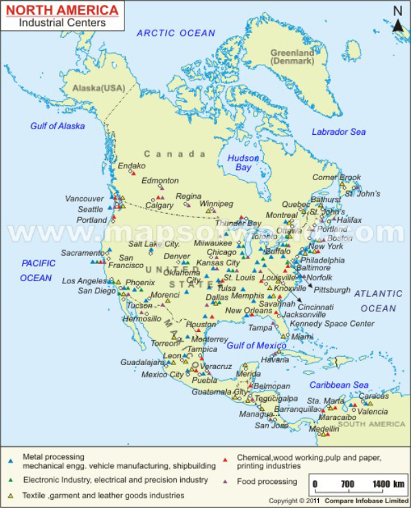 North America Industrial Centers