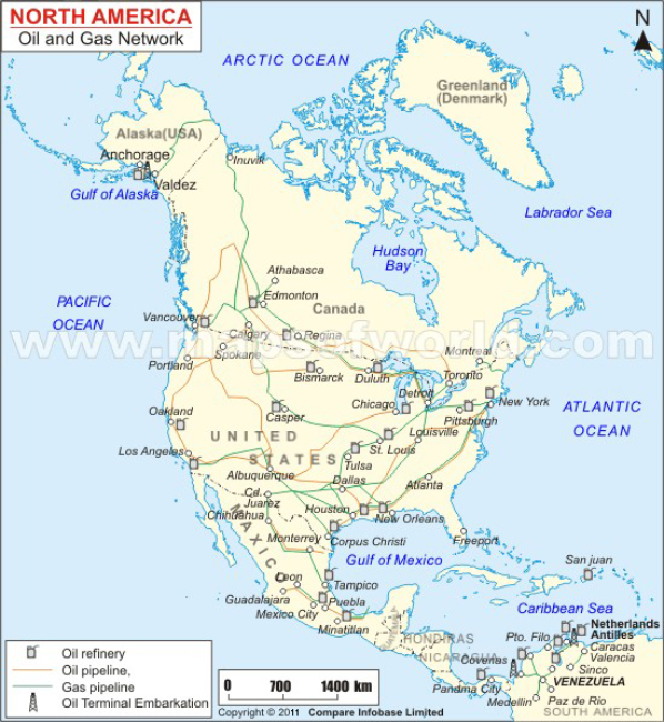 North America Oil And Gas Network