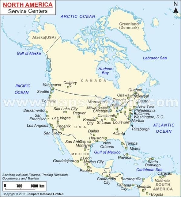 North America Service Centers