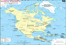 North America Lat Long Map