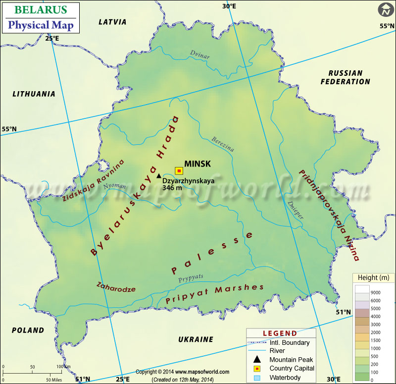 Map of belarus physical map of belarus sciox Images