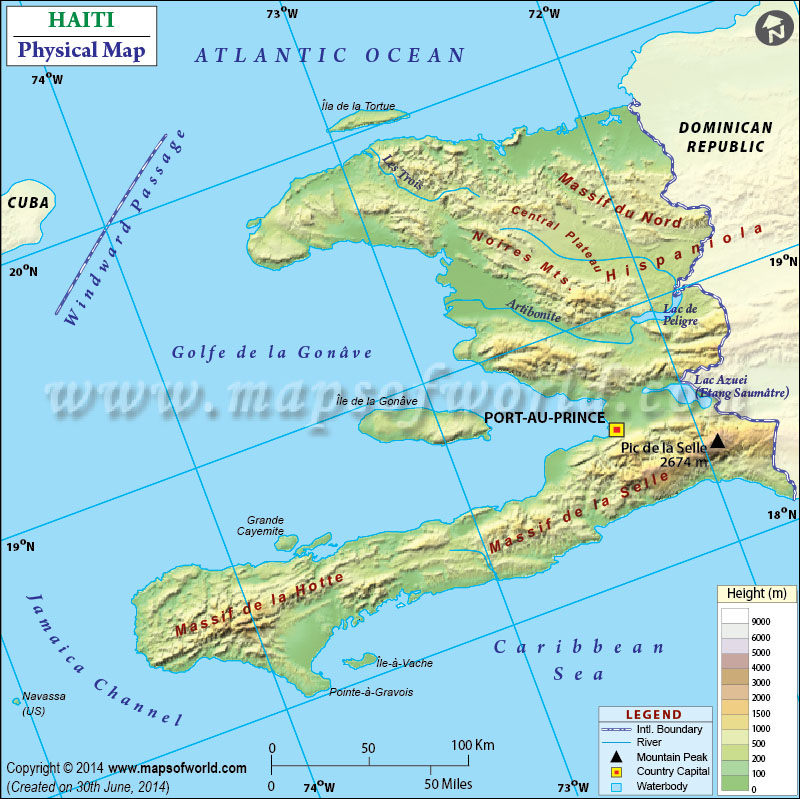 Map Of Haiti - Argentina map with rivers and mountains