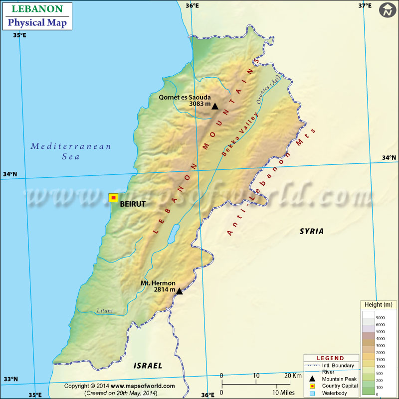 Map Of Lebanon - Lebanon map