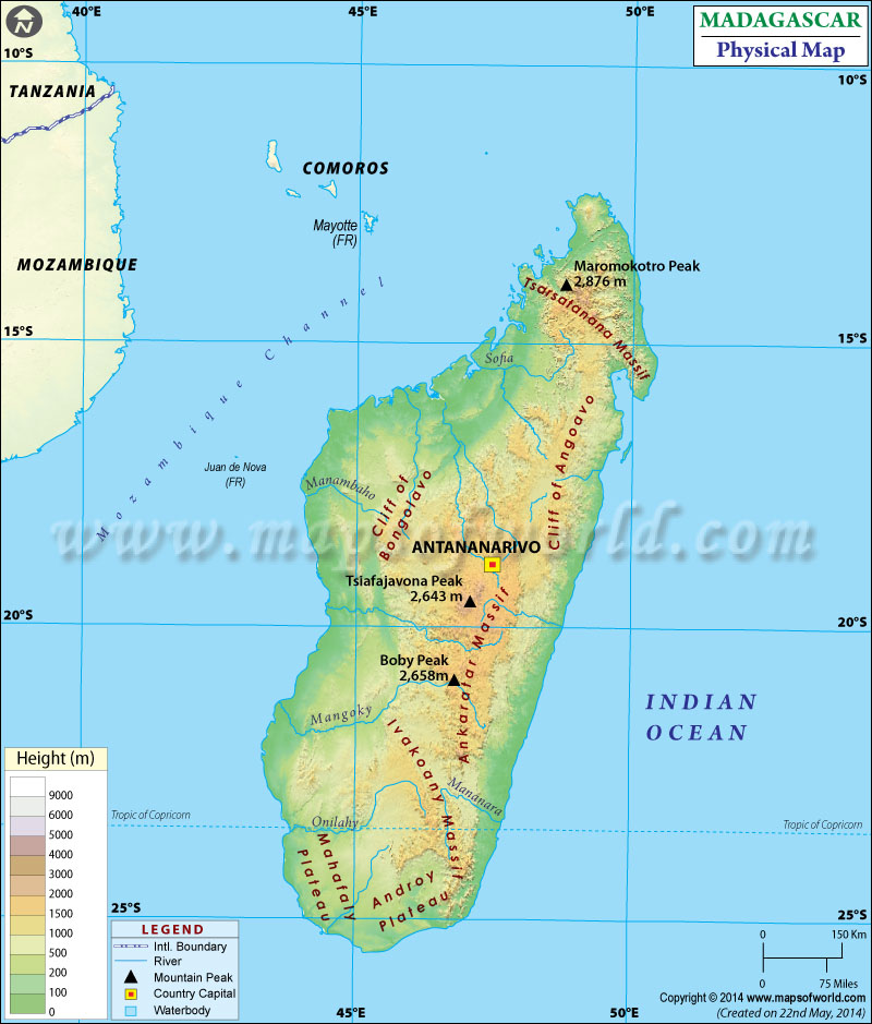 Map of Madagasca