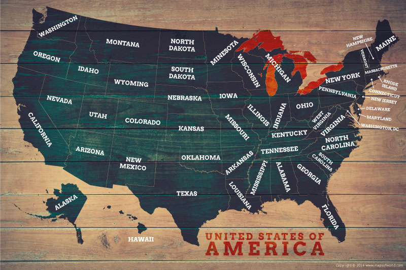 Poster Of Usa Map.Us Map Posters Map Of The United States Poster