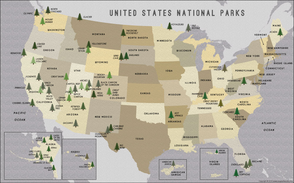 US National Parks Poster