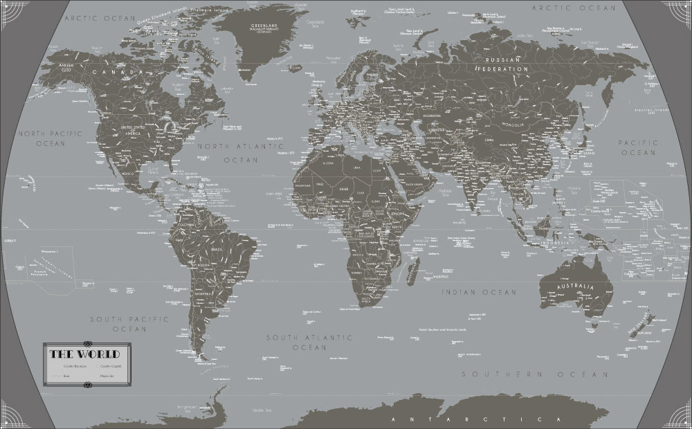 World Map Poster By Mapsofworld