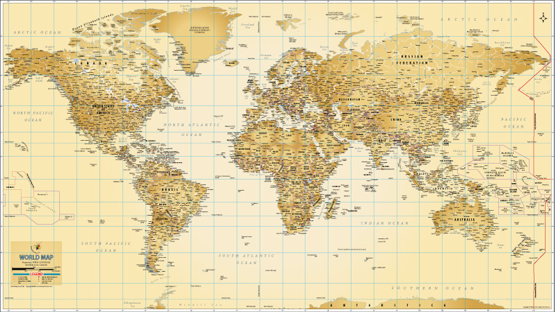 World Map Poster By MapsofWorld - Would map