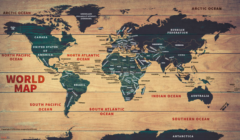 World wood map poster for Best place to buy posters in store